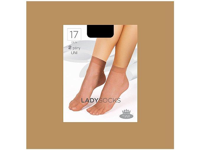 Lady socks beige web