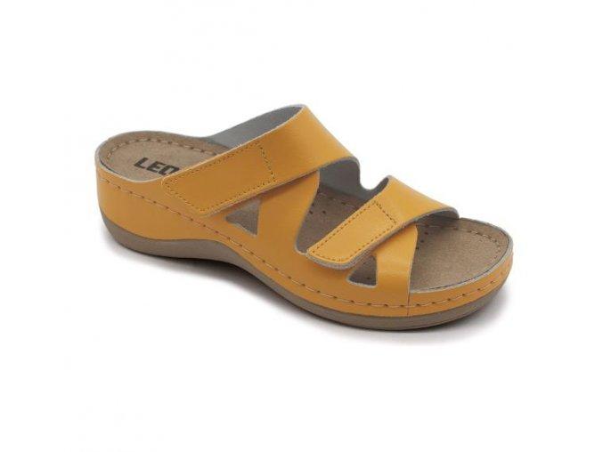 Leons Maja dámské zdravotní pantofle - Oranžová