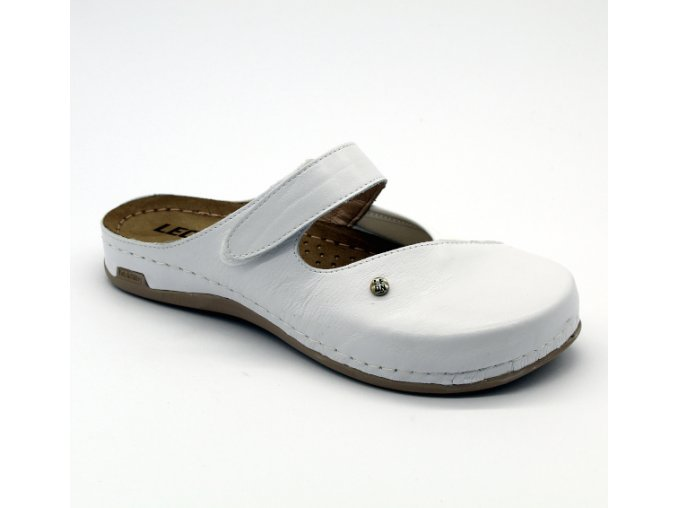 Leons Ortho dámské zdravotní pantofle - Bílá