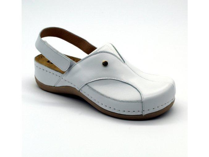 Leons Comforta 913 dámské zdravotní sandály - Bílá
