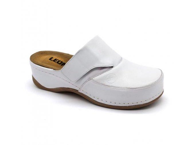 Leons Flexi dámské zdravotní pantofle - Bílá