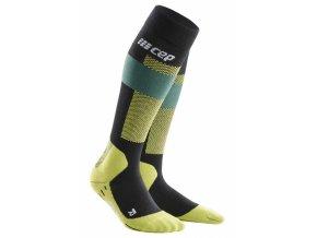 1280x1280 Ski Merino Socks black grey WP55BB WP45BB front 2 sba