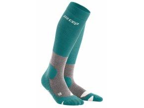 hiking merino socks forestgreen grey