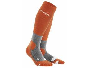 hiking merino socks sunset grey