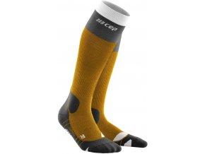 1280x1280 Hiking Light Merino Socks sungold black WP20E5 WP30E5 front 2
