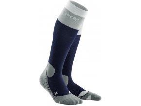 1280x1280 Hiking Light Merino Socks marineblue grey WP20D5 WP30D5 front 2