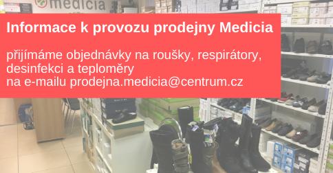 Informace k provozu prodejny Medicia