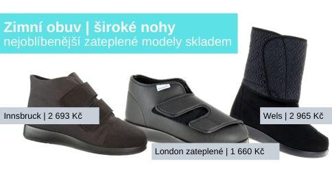 Zimní modely pro široké nohy skladem