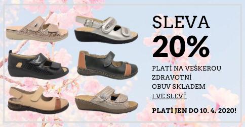 Obujte se na jaro! Sleva 20 % na obuv skladem