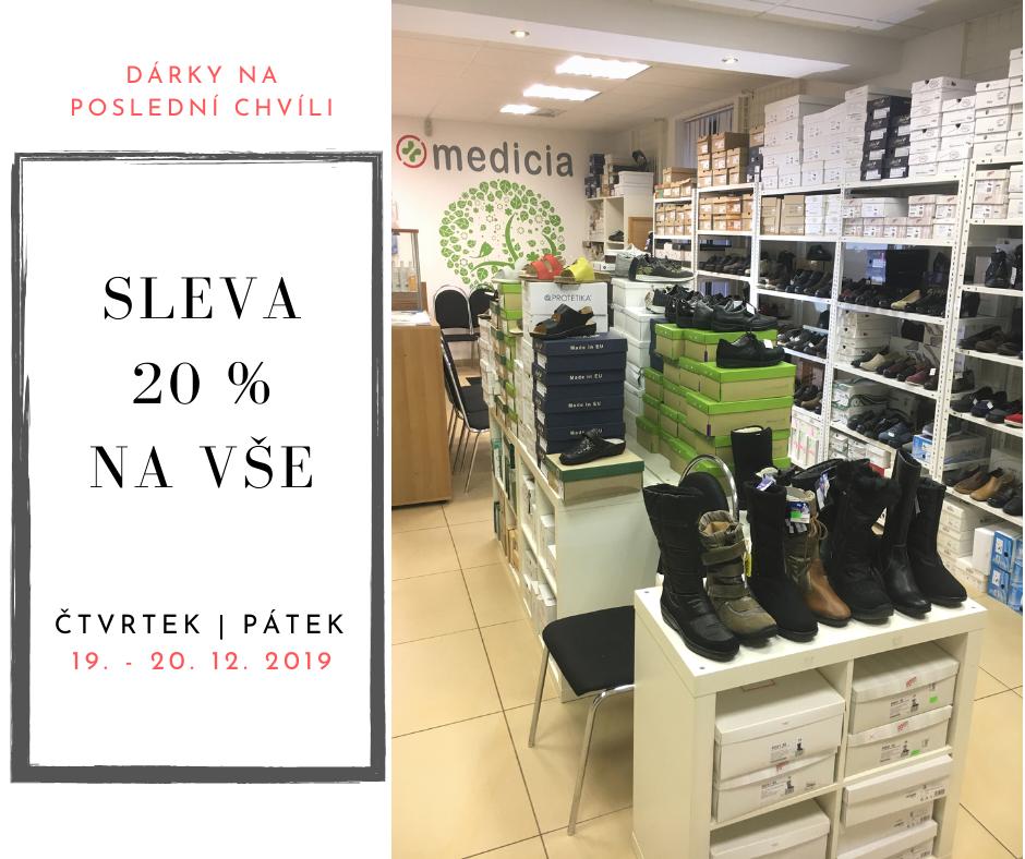 SLEVA 20 % na vše v prodejně Medicia od 19. - 20. 12.