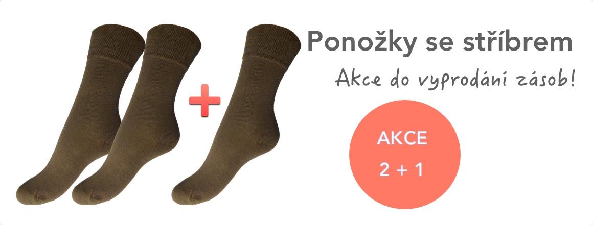 Ponožky 2 plus 1