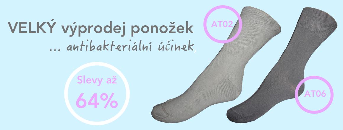 Výprodej ponožek se stříbrem