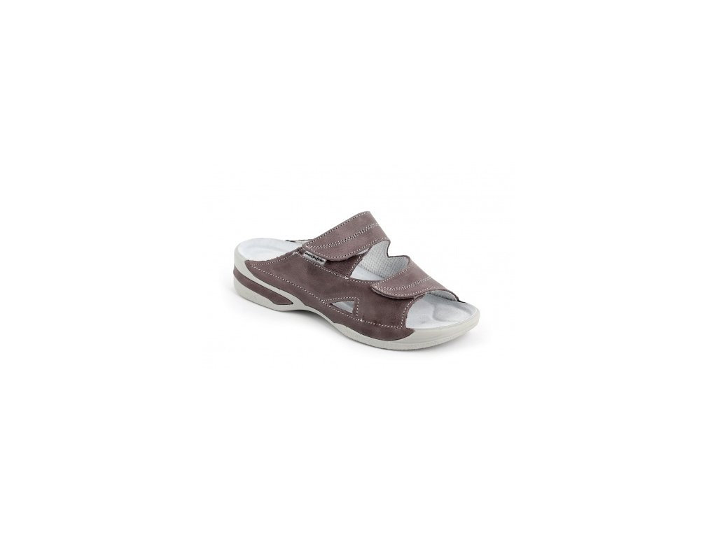 105c67eb117a ... Dámské pantofle Medistyle Lucy 5L-E11 šedo-fialová ...