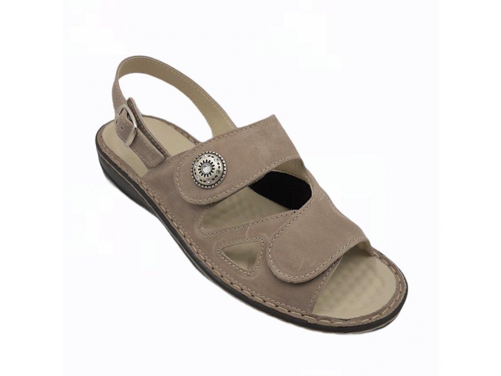 Dámské sandály pro široké nohy Varomed Yvonne 04325 béžové ... f650b3ee7d