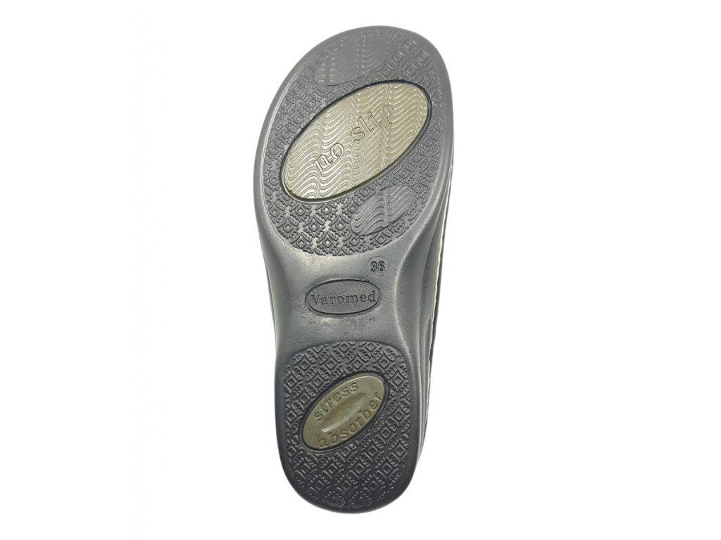 ... Dámské sandály pro široké nohy Varomed Yvonne 04325 béžové - vnitřní  strana se strečem 87fcca6f7e