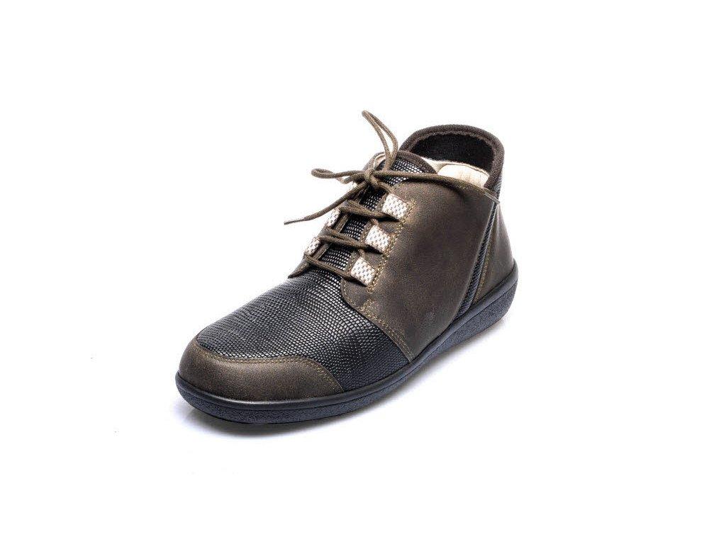 6470dc2b2de Dámské kotníčkové boty pro široké nohy Varomed Perpignan 77341 olivové 2 ...