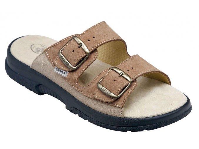 Santé zdravotní obuv N/517/36/47/28/CP pánská hnědá