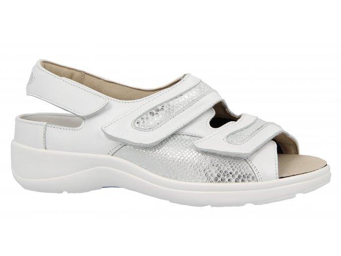 Dámské sandály pro širokou nohu Varomed Berlin 79721 bílé