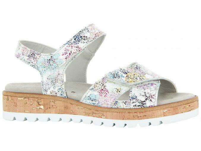 Florett dámské sandály 01721 stříbrné