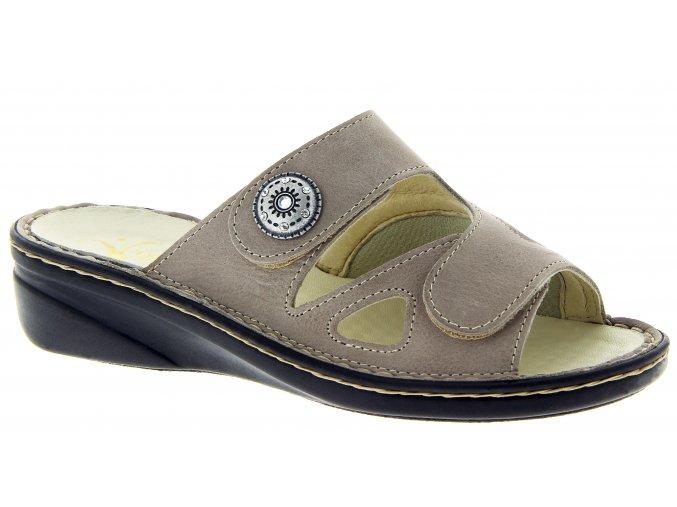 Dámské pantofle se strečem Varomed 06375 šedé