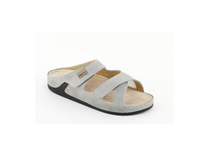 Zdravotní pantofle se strečem Medistyle Lina šedé