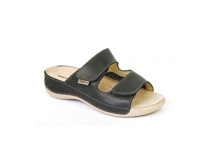 Zdravotní pantofle Medistyle Šarlota černé