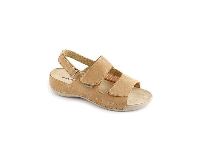 Zdravotní sandály se strečem Medistyle Šarlota hnědé