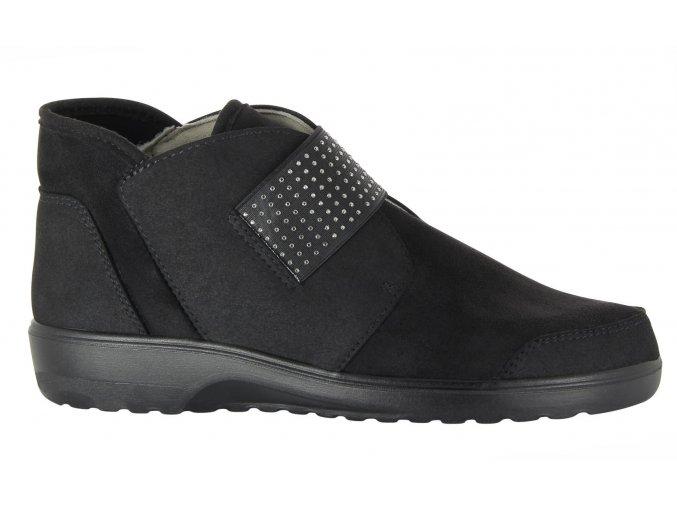 Kotníčkové boty pro široké nohy Varomed Bregenz 31521 černé