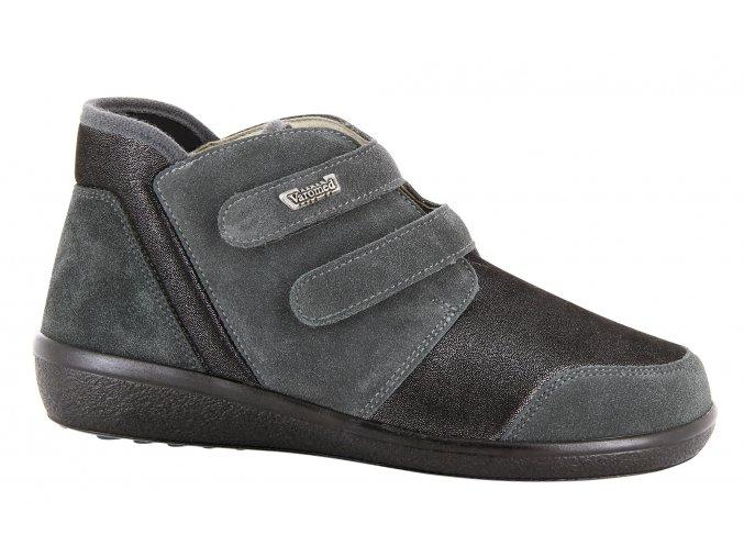Kotníčkové boty pro široké nohy Florett Lyon 77351 tmavě šedá