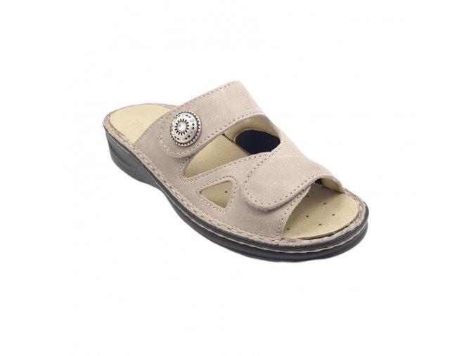 Dámské pantofle pro široké nohy Varomed Mia 04375 béžové