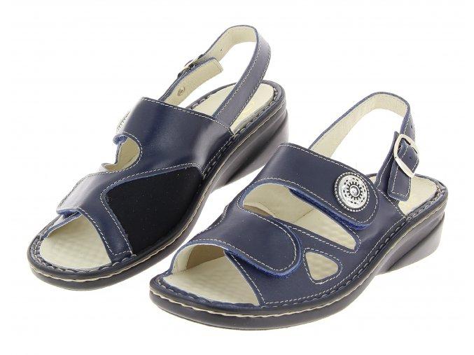 Dámské sandály pro široké nohy Varomed Isabell 06325 modré