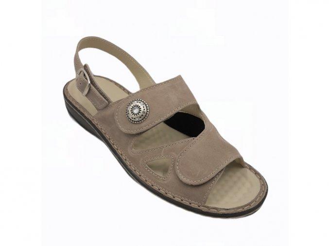 Dámské sandály se strečem Varomed Yvonne 04325-67 šedé