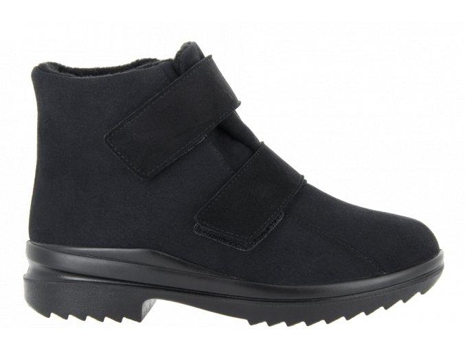 Zimní kotníčkové boty pro širokou nohu Florett 46311 černá