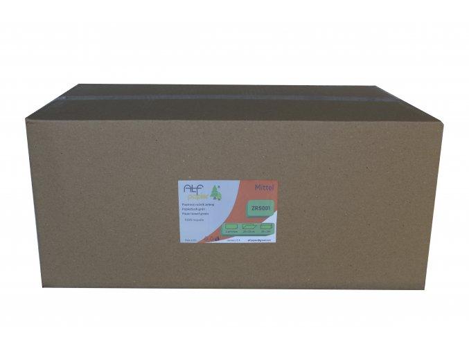 Ručník ZELENÝ ZR 5001 - 1-vrstvý, recyklát, 1 karton (20x150 ks)