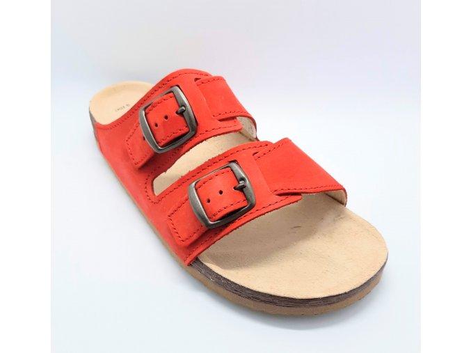 Zdravotní korkové pantofle Protetika červené