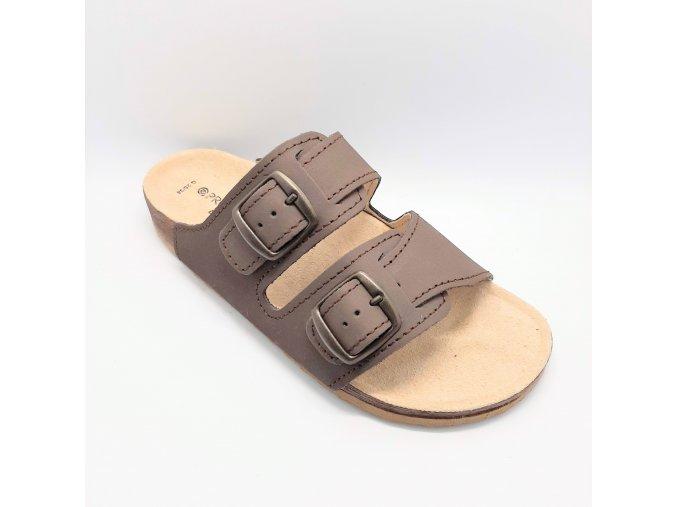 Zdravotní korkové pantofle Protetika hnědé