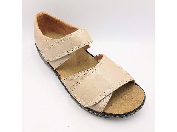 Dámské zdravotní sandály Carya 4986 béžové