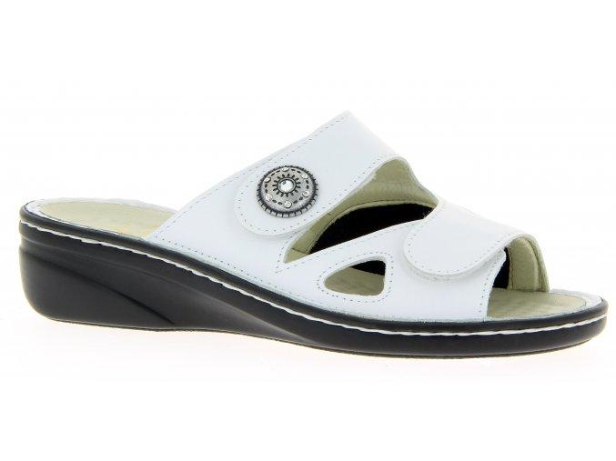 Dámské pantofle se strečem Varomed Maria 06375-70 bílé