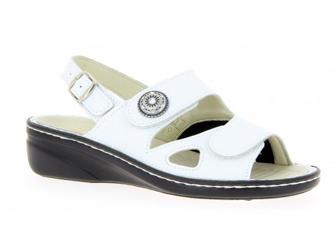 Dámské sandály se strečem Varomed Isabell 06325-70 bílé