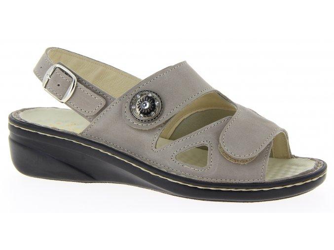 Dámské sandály se strečem Varomed Isabell 06325-67 šedé