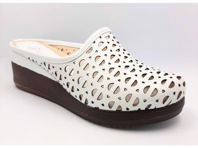 Dámské zdravotní pantofle Carya La Pinta 123-582 bílé