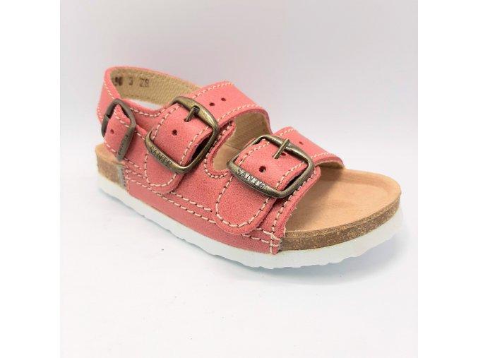Dětské sandály Santé N/302/C30/BP lososové
