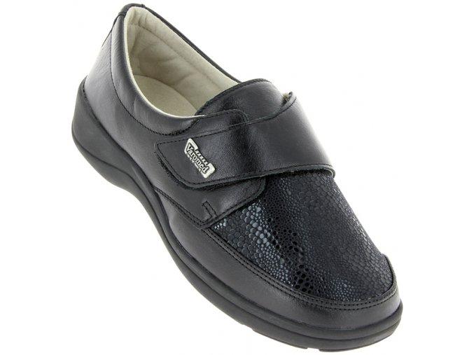 Dámské polobotky pro široké nohy Varomed Tallin 79151 černé