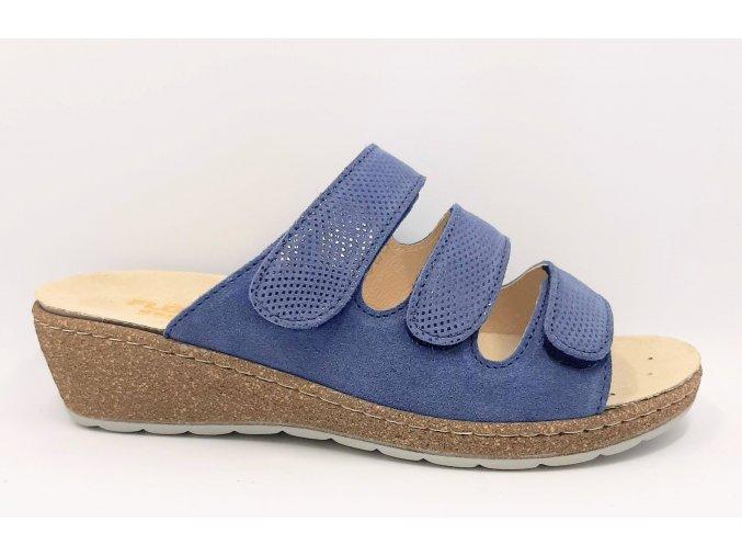 Dámské zdravotní pantofle Florett Adelia 07772-20 modré