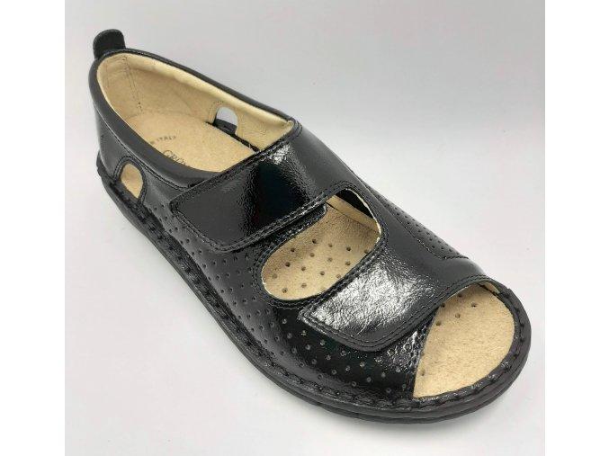 Dámské sandály pro širší nohy se strečem Grünland NESI SC4885 černé