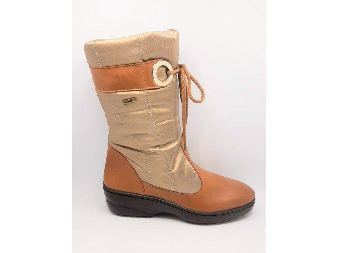 Florett 50591/40 Stiefel Damen gold Zimní zateplené boty