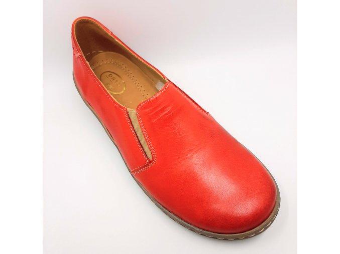 Dámské polobotky pro širší nohy Ortoplus 530-106 červené
