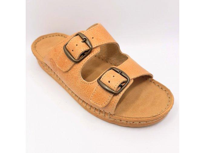 Dámské pantofle pro širší nohy Ortoplus 1010-K10 hnědé