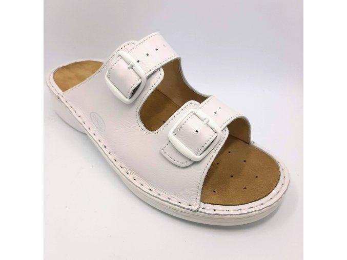 Dámské zdravotní pantofle Ortoplus 1501-10 bílé