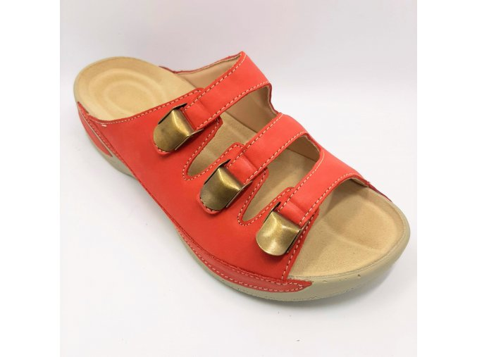 Dámské pantofle pro širší nohy Ortoplus 1579-209 červené